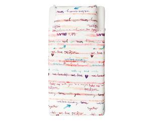 Set de sábana encimera y funda de almohada para cama de 90cm Paint Party