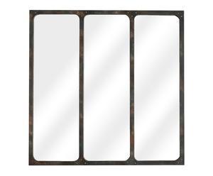 Espejo tríptico en metal – 70x70 cm