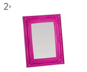 Set de 2 marcos de fotos de melamina, violeta – pequeño