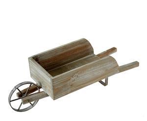 Carretilla de madera y metal