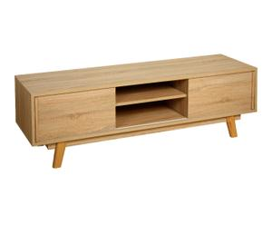 Mueble para tv de madera de roble Scandi – natural