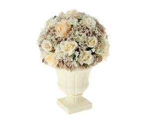 Centro de flores artificiales con maceta I