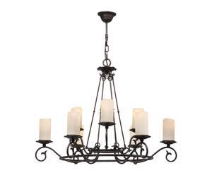 Lámpara de techo de 9 luces - marrón oxido