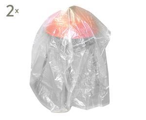 Set de 2 fundas para proteger la barbacoa en PVC – transparente