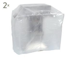 Set de 2 fundas para proteger la barbacoa en PVC I – transparente