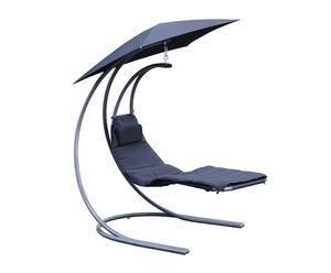 Tumbona balancín con sombrilla