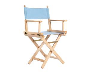 Sillón en madera de haya Cine Clásico - natural y celeste