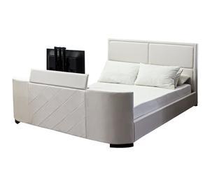 Estructura de cama con cajones, blanco – 140x200cm