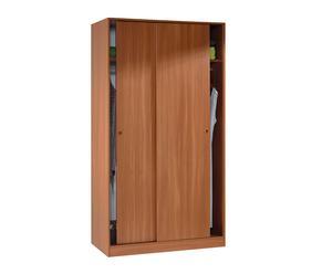 Armario de puertas correderas en melamina II - castaño