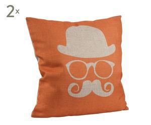 Set de 2 cojines en tela de saco Hipster – 45x45 cm
