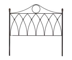 Cabecero Gótico de forja, óxido - cama de 135 cm