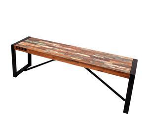 Banco en madera de mango reciclada y hierro