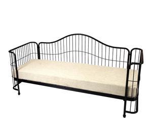 Sofá cama en forja con cojín Antic - negro
