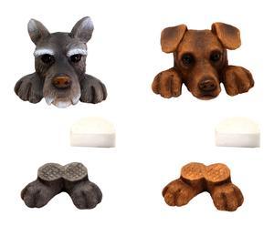 Set de 2 decoraciones para maceta Perro