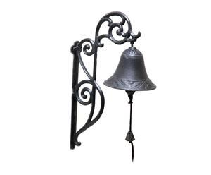 Campana de pared en hierro fundido – negro
