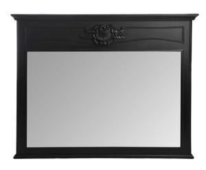 Espejo en madera de paulonia, negro – 125x100cm