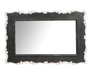 Espejo en DM y resina Antique, negro y blanco -90x60cm