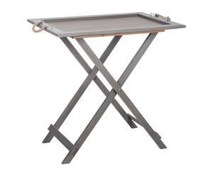 Mesa bandeja de madera – gris