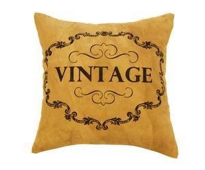 Cojín de cuero brasileño y algodón Vintage - 40x40cm