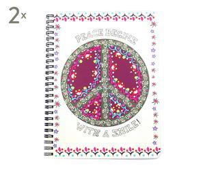 Set de 2 libretas Peace - 70 hojas