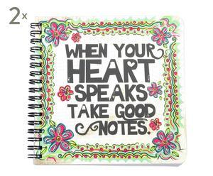 Set de 2 libretas Heart - 70 hojas