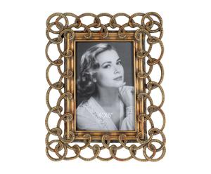 Marco de fotos de poliresina, dorado - 19,5x24,5 cm