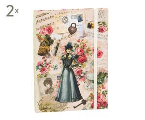 Set de 2 libretas de cartón Dama