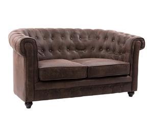 Sofá en polipiel - marrón
