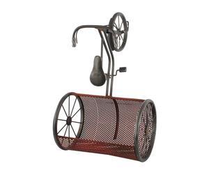 Estantería de pared en metal envejecido Bici - rojo