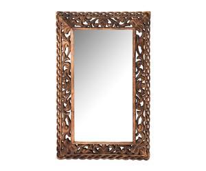 Espejo de pared en madera de mango