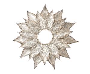 Espejo de pared en metal Hojas II