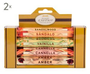 Set de 8 cajas de sticks de incienso Exotic – 4 aromas