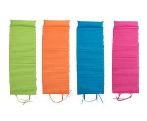 Set de 4 esterillas, verde, naranja, azul y rosa - 60x180