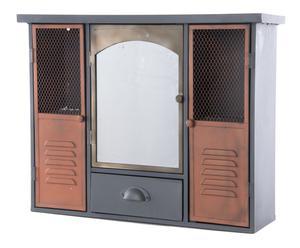 Consola de metal con Espejo