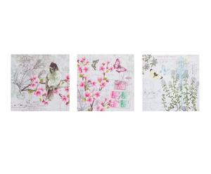 Set de 3 cuadros Romántico - 40x40 cm