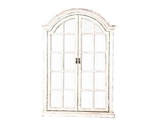 Espejo de madera y metal - blanco