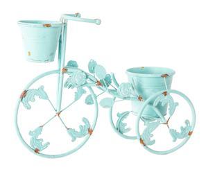 Macetero en metal y cerámica con 2 macetas Bicicletas