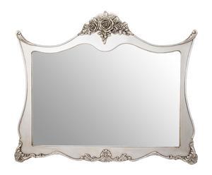 Espejo en madera DM, plateado - 109x92 cm