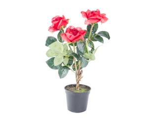 Planta artificial Rosas - rojo