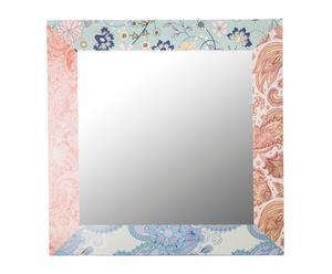 Espejo de pared enmarcado en madera - 70x70 cm
