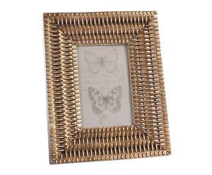 Marco de fotos en resina, dorado – 10x15 III