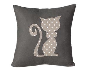 Cojín en algodón Gato, gris - 30x30 cm