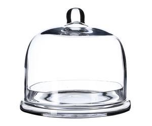 Plato con campana de cristal - transparente