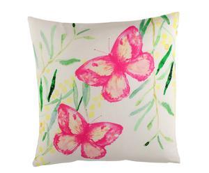 Cojín en algodón Mariposas - 45x45 cm
