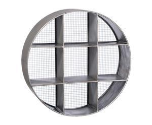 Estantería redonda en metal, gris - Ø76 cm