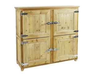 Armario en madera de pino con 4 puertas Nathan