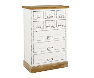 Mueble de cocina de DM y pino con cajones