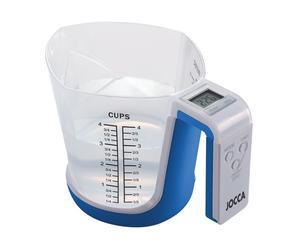 Báscula de cocina con jarra medidora - azul