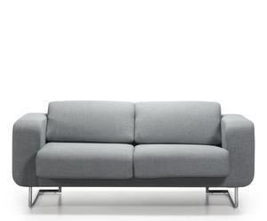 Sofá de madera de pino, acero, metal y poliéster Oasi – gris