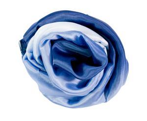 Chal de seda Degradé, azul - 175x83 cm